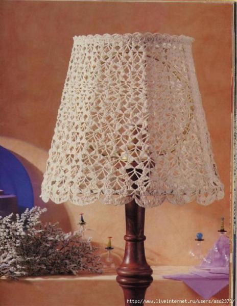 Абажур, вязаный крючком: схема в стиле прованс с фото и видео в фото