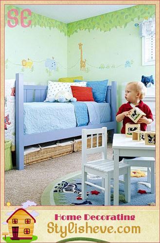 Декор детской — джунгли в доме в фото