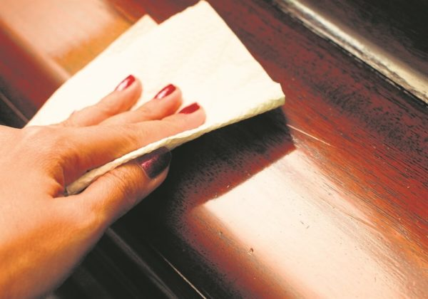 Домашние средства для чистки и ухода за деревянной мебелью в фото