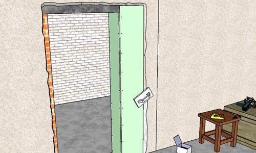 Как уменьшить дверной проём в ширину и в высоту? в фото