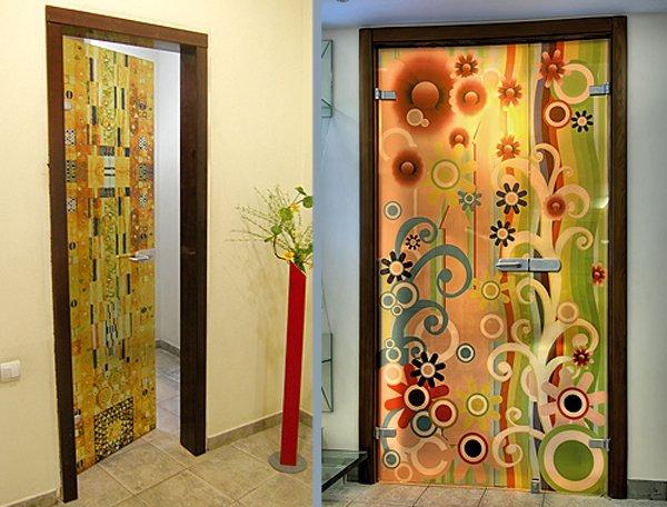 Оформление дверей при незначительных затратах в фото