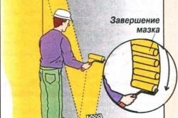 Покраска стен и потолков: порядок работ в фото