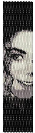 Схема вышивки бисером брслетов Майкл Джексон в фото