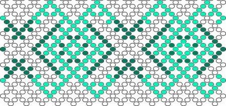 Схема вышивки яиц бисером «Изумрудное» в фото