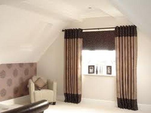 Шторы на люверсах для зала или спальни в фото