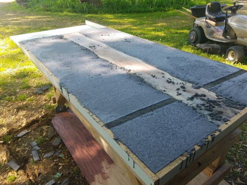 Столешница из дерева и бетона своими руками в фото