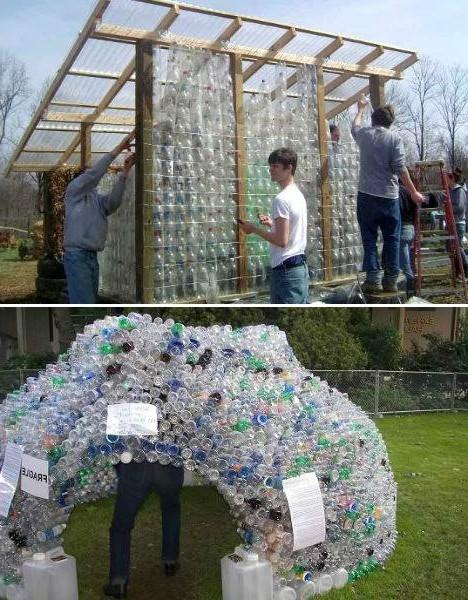 Теплица из пластиковых бутылок своими руками: 2 способа (15 фото) в фото