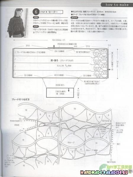 Вязание на вилке. Японский журнал со схемами в фото