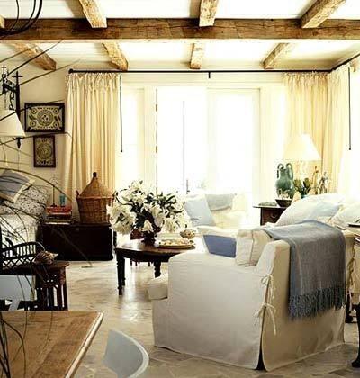 Загородный интерьер в квартире в фото