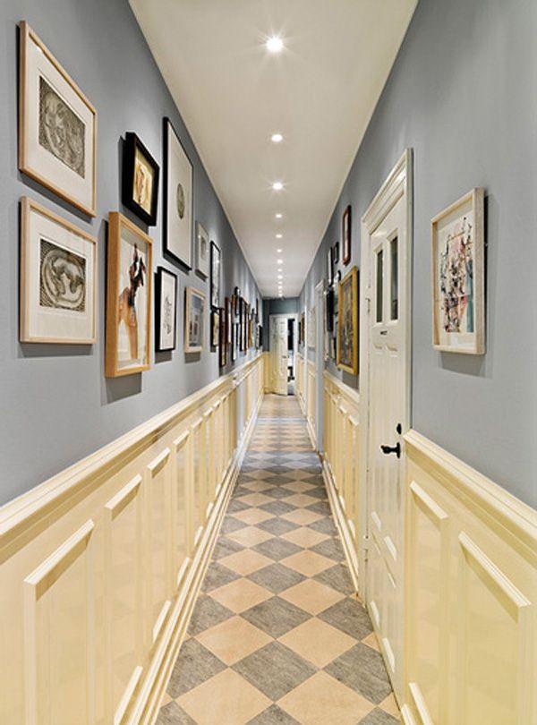 Отделка стен узкого коридора