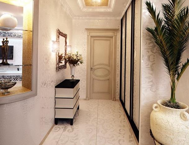 Интерьер для маленьких коридоров в классическом стиле