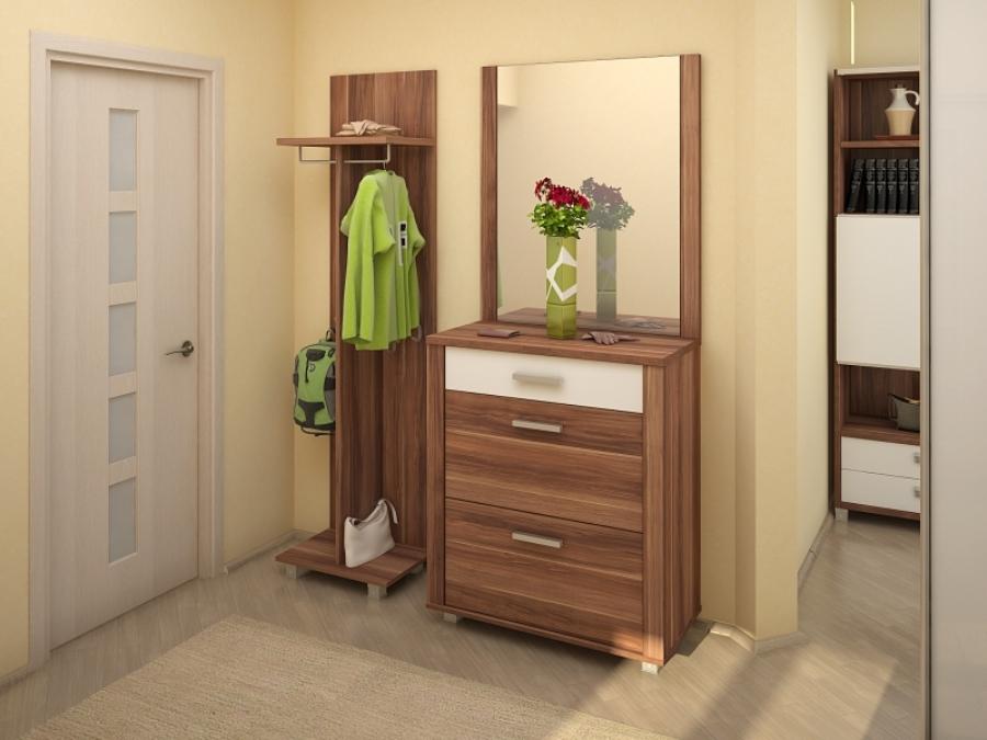 Компактная и удобная мебель в маленьком коридоре