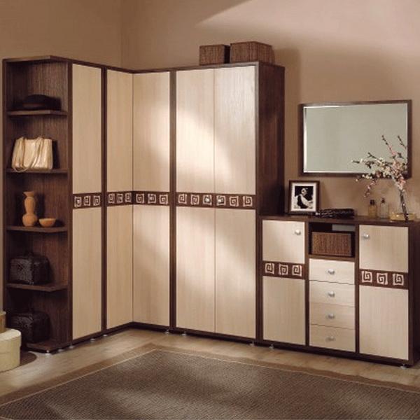 Модули углового шкафа в едином стиле