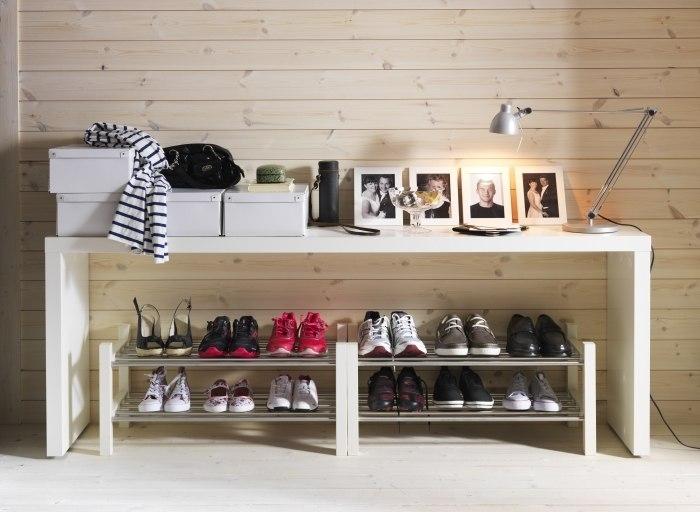 Обувница Чусинг из ИКЕА со стальными полочками под обувь