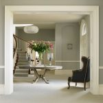 Classic entrance hall with antique furniture