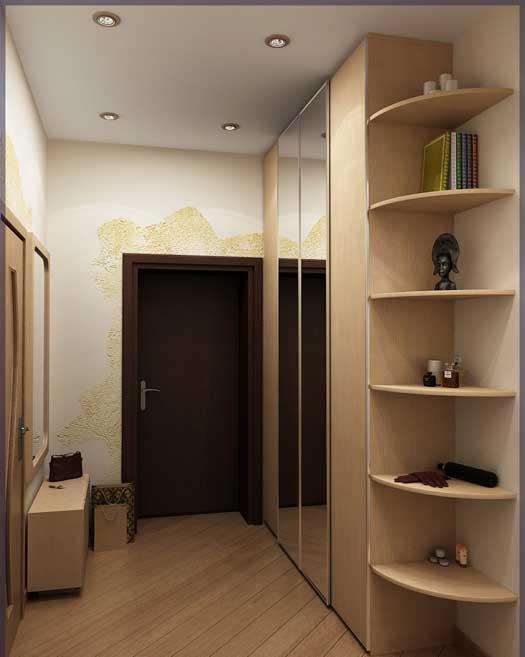 Фото ремонта прихожей в квартире в светлых оттенках для малогабаритных коридоров
