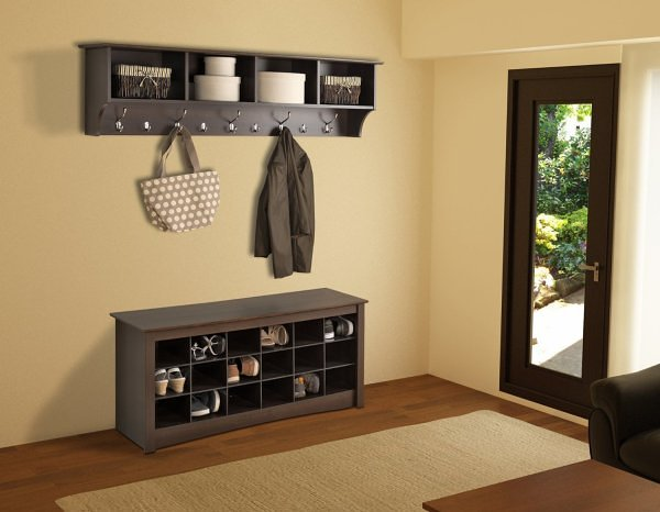 Entryway benches with shoe storage