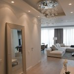 Spacious-Moscow-apartment-Design-Interior-in-Hallway-Decor-Used-Modern-Furniture-and-Glass-Chandelier-Lighting-Design-Ideas