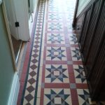 Victorian tiled Hallway after repair and cleaning in Telford 132649