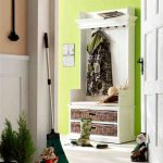 Wooden Hall Storage Unit for Coats and shoes in white m