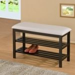 black-wood-white-bonded-leather-shoe-rack-storage-organizer-hallway-bench