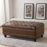 contemporary brown storage ottoman bench design with grey shag rug and wooden floor for contemporary family room contemporary storage ottoman bench design for your furniture ideas storage green bench