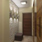 dekorativnyj kamen v interere prihozhej foto 819x1024