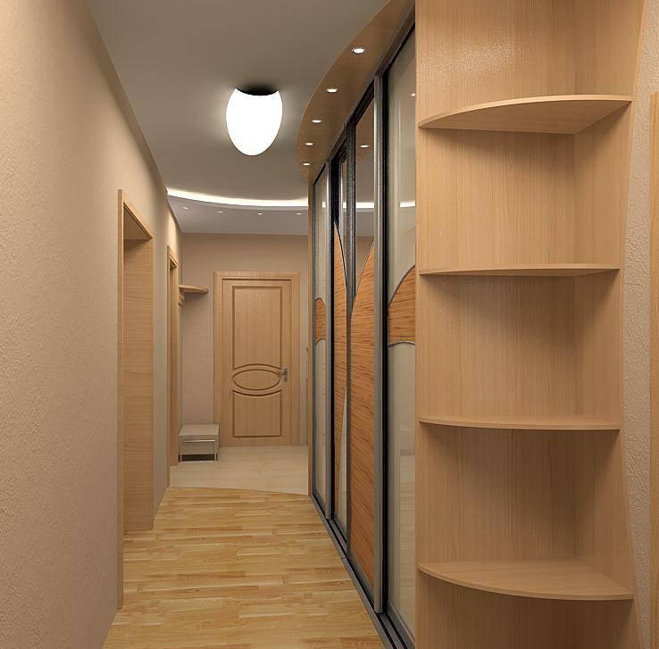 Узкий шкаф-купе для узкого коридора