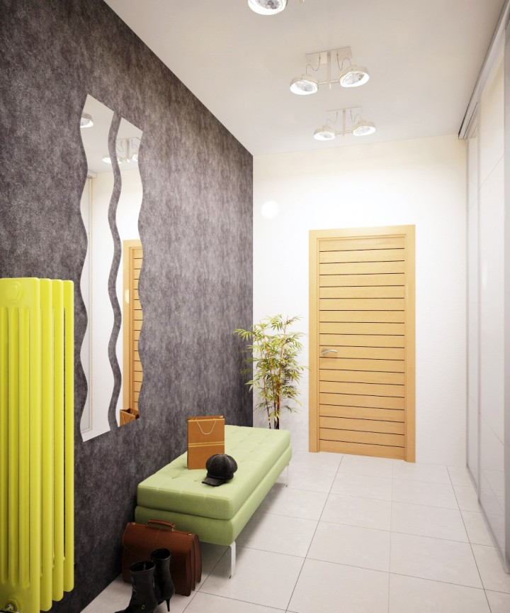 Фото дизайна узкого маленького коридора
