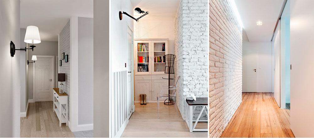 Светлые тона в дизайне узких коридоров