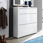 fino white gloss shoe cabinet