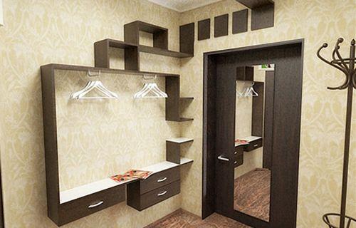 Пример стеклообоев в ремонте малогабаритной прихожей в квартире