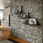 hallway stone veneer