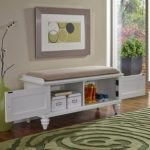 home styles bermuda upholstered bench brushed white 3