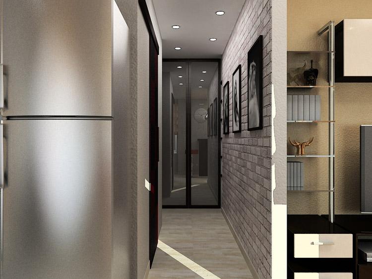 Фото малогабаритного коридора с точечным освещением