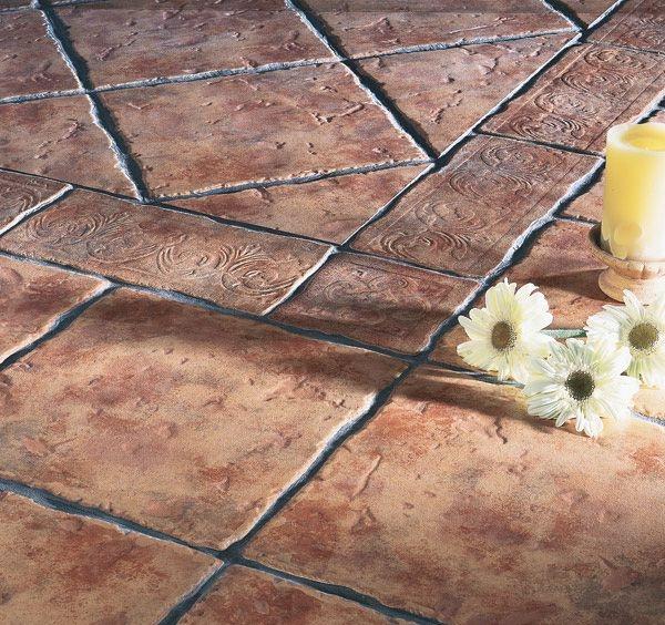 Рельефное напольное покрытие из плитки