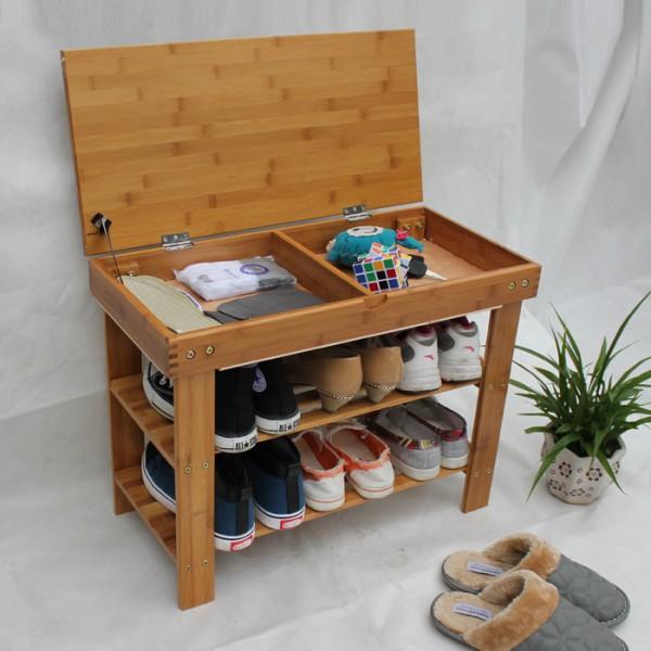 Тумба с крышкой - сидением для обуви в прхожей