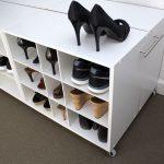 shoe trolley shoe organizer end view