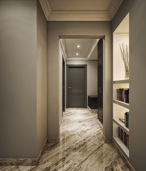 Hallway Interior Design Visualisations Hall Design: Small-apartment-interior-design-beautiful-hallway-with