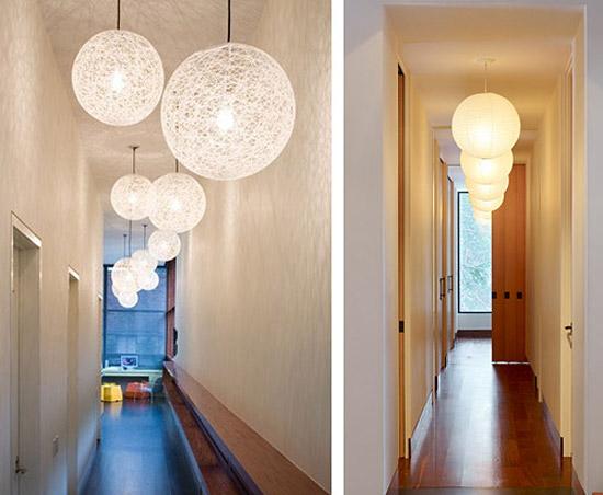 Объемные светильники в узких коридорах
