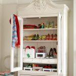 vintage feminine shoes dresser