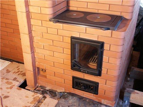 печка в доме своими руками фото