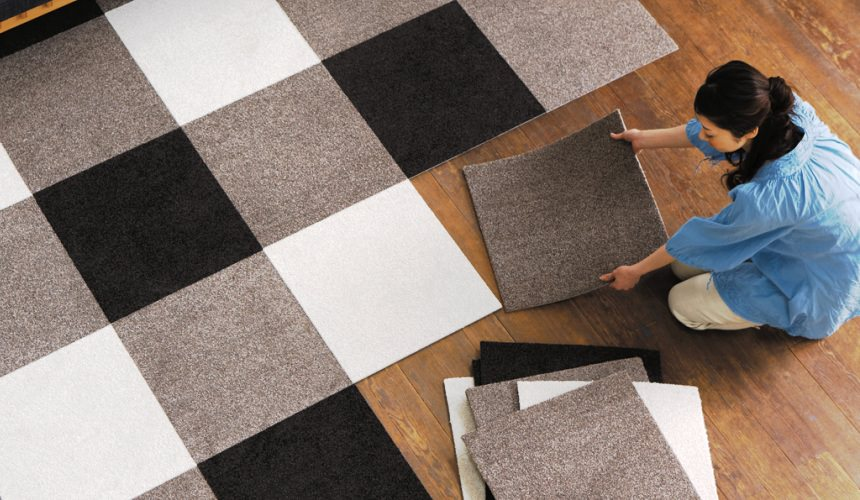 Установка ковровой плитки своими руками
