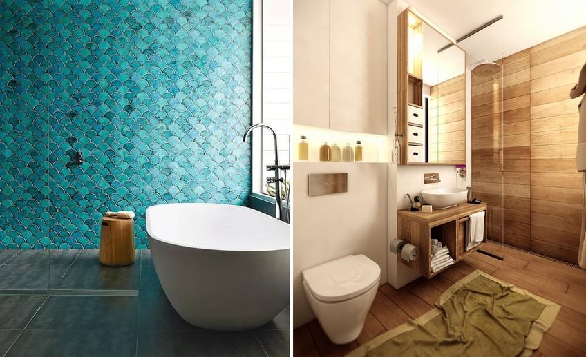 Дизайн ванной комнаты 2017-2018 современные идеи 3 метра