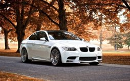 white bmw scenic beauty hd wallpaper 0