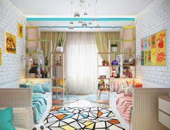Какой должна быть детская комната для разнополых детей