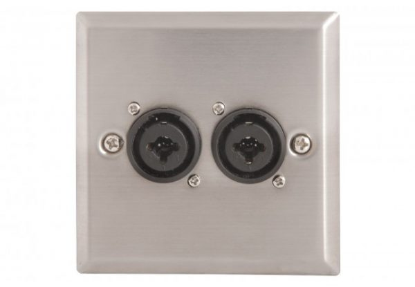 av-link-steel-av-wallplate-with-2-x-xlr-jack